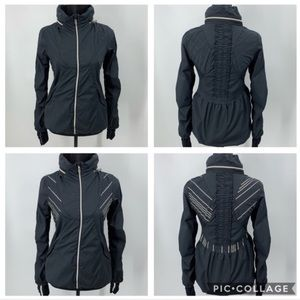 VERY RARE Lululemon RUN & HUSTLE reflective jacket